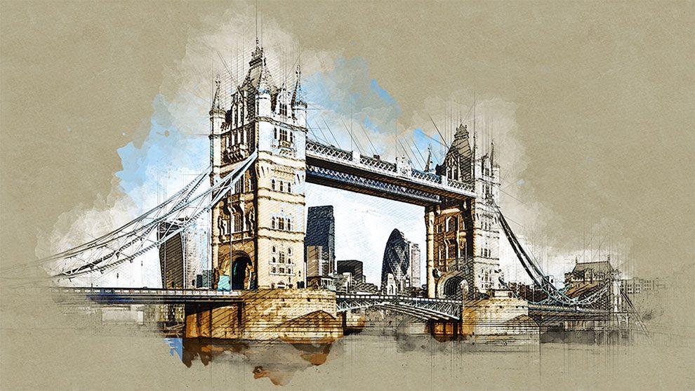 اکشن فتوشاپ طرح اسکیس معماری Architecture 2 Sketch Painting