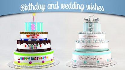 پروژه افترافکت تبریک تولد و عروسی Birthday and Wedding Wishes