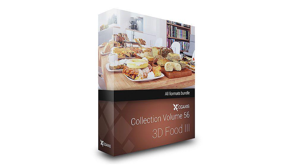 مجموعه مدل سه بعدی غذا CGAxis Models 56 3D Food iii