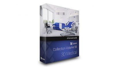 مجموعه مدل سه بعدی پزشکی CGAxis Models 55 3D Medical