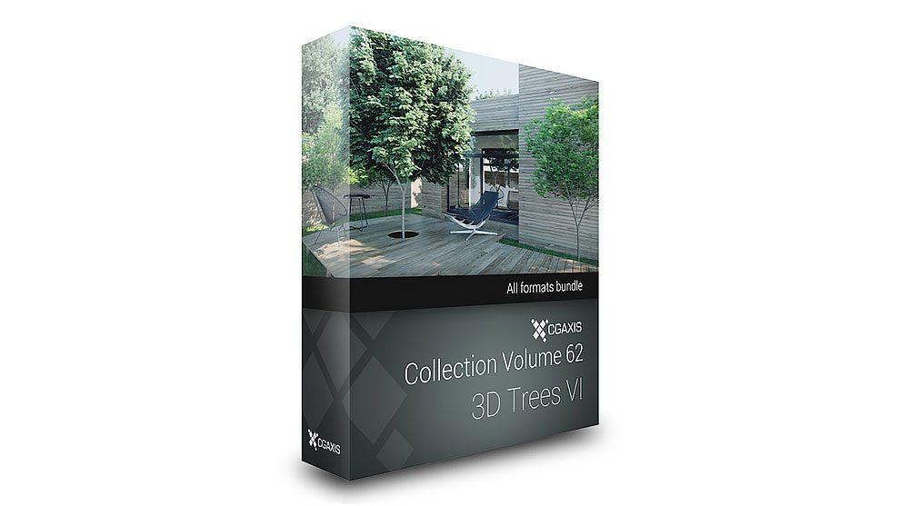 مجموعه مدل سه بعدی درختان CGAxis Models 62 Trees VI