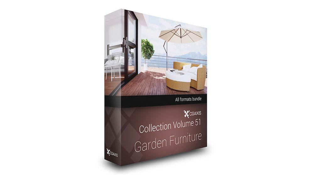 مجموعه مدل سه بعدی وسایل باغ CGAxis Models 51 Garden Furniture