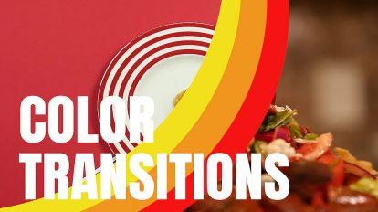 پروژه پریمیر مجموعه ترانزیشن رنگی Color Transitions