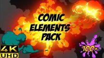 پروژه افترافکت مجموعه افکت های کمیک Comic FX Pack