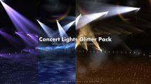مجموعه ویدیوی موشن گرافیک نورهای کنسرت Concert Lights Glitter Pack