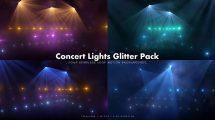 مجموعه ویدیوی موشن گرافیک نورهای کنسرت Concert Lights Glitter Pack 6