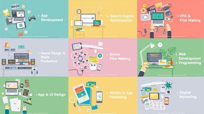 پروژه افترافکت اسلاید تبلیغاتی با طراحی فلت Creative Process