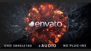 پروژه افترافکت نمایش لوگو انفجار Explosion Logo Reveal