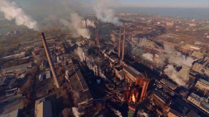 فوتیج ویدیویی آلودگی هوا با دود کارخانه Factory Smoke