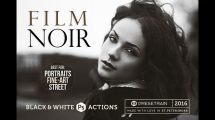 اکشن فتوشاپ برای تبدیل عکس رنگی به سیاه و سفید Film Noir B&W