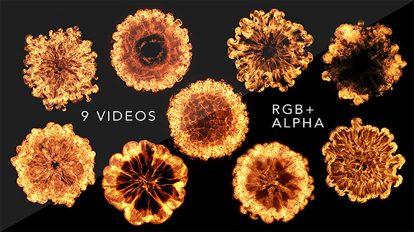 مجموعه ویدیوی موشن گرافیک انفجار موج آتش Firewave Explosions