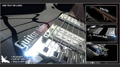 پروژه افترافکت نمایش عناوین روی گیتار الکتریکی Guitar Titles