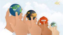 پروژه افترافکت نمایش لوگو با دست Hands Logo Reveal