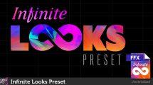 مجموعه پریست افترافکت رنگ Infinite Looks