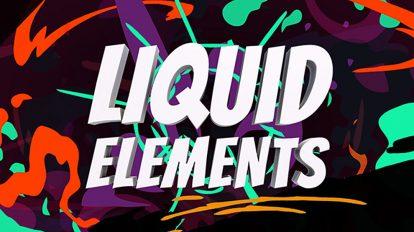 پروژه افترافکت افکت های کارتونی مایع گونه Liquid Elements