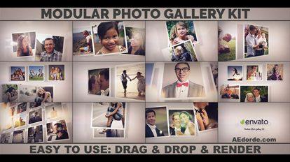 پروژه افترافکت گالری عکس مدولار Modular Photo Gallery Kit