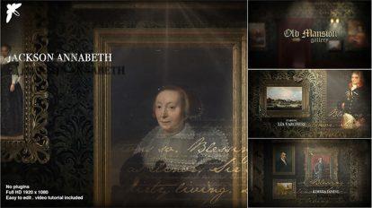 پروژه افترافکت گالری عکس در عمارت قدیمی Old Mansion Gallery