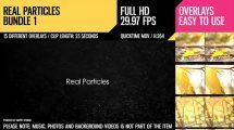 مجموعه ویدیوی موشن گرافیک ذرات معلق Real Particles Bundle 1
