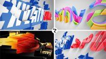 پروژه افترافکت نمایش لوگو سه بعدی Realistic Cascading 3D Logo