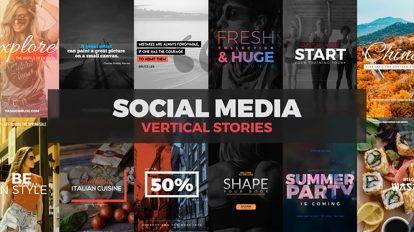 پروژه افترافکت استوری اینستاگرام Social Media Vertical Stories