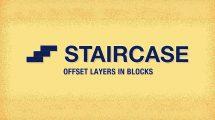 پلاگین افترافکت Staircase ابزار جابجایی لایه ها در افترافکت