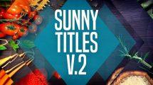 پروژه افترافکت نمایش عناوین Sunny Titles