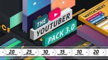 پروژه افترافکت ضروریات ویدیوی یوتیوب The Youtuber Pack 3