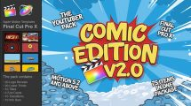 پروژه پریمیر ضروریات ویدیوی یوتیوب کمیک The YouTuber Pack Comic Edition