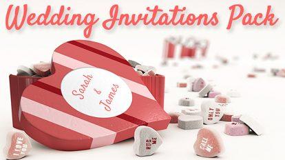 پروژه افترافکت افتتاحیه دعوت عروسی Wedding Invitation Pack