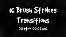 مجموعه ویدیوی موشن گرافیک 16 ترانزیشن با براش نقاشی