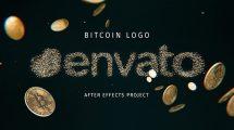 پروژه افترافکت نمایش لوگو بیت کوین Bitcoin Logo
