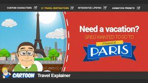 پروژه افترافکت تیزر گردشگری کارتونی Cartoon Travel Explainer