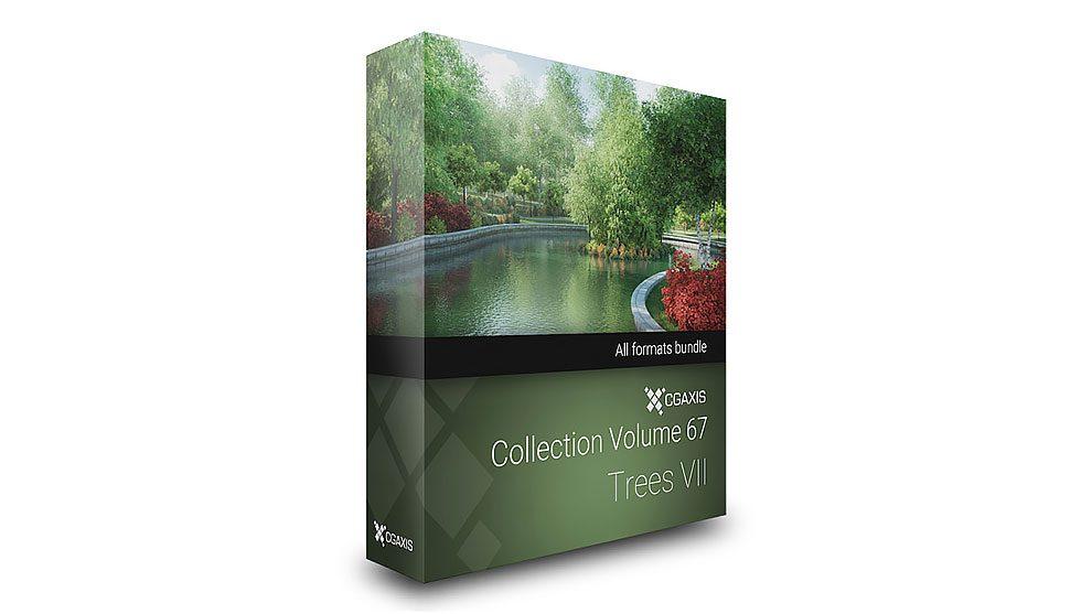 مجموعه مدل سه بعدی درختان CGAxis Models 67 Trees VII