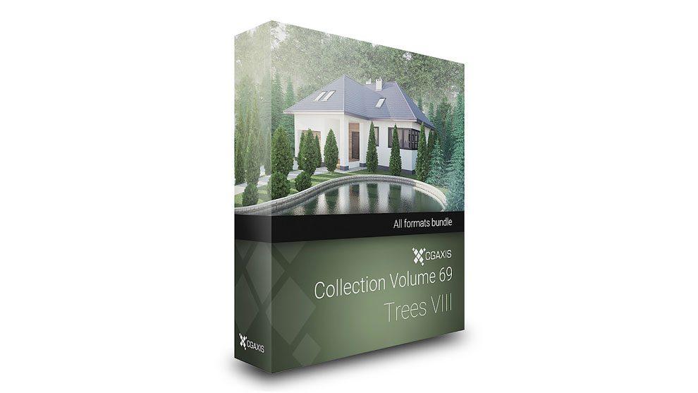 مجموعه مدل سه بعدی درختان CGAxis Models Volume 69 Trees VIII
