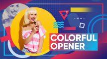 پروژه افترافکت افتتاحیه رنگارنگ Colorful Opener