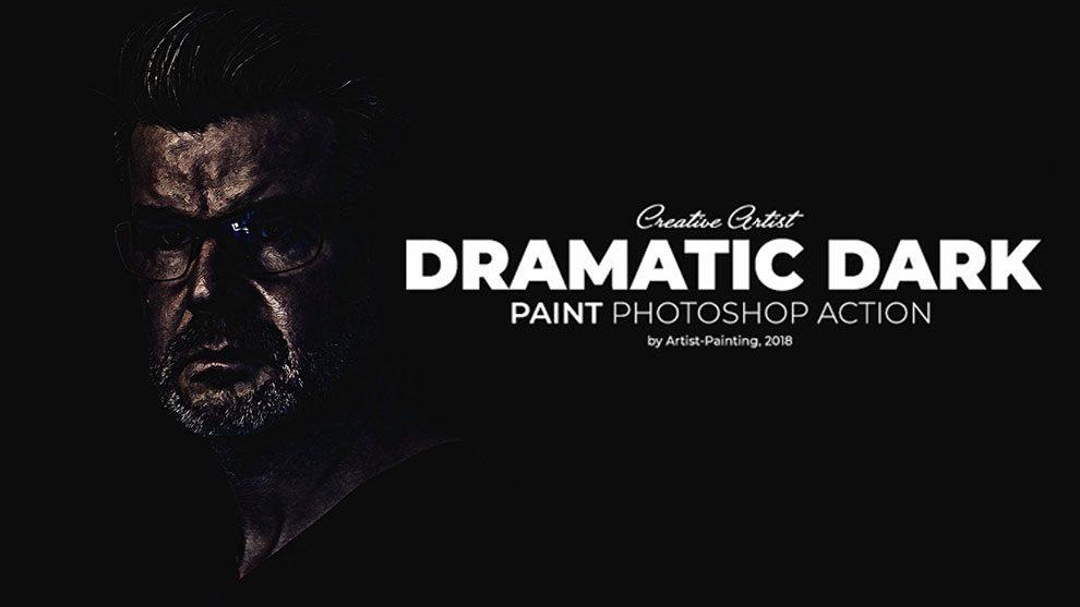 اکشن فتوشاپ نقاشی دراماتیک تاریک Dramatic Dark Paint
