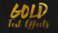 مجموعه استایل فتوشاپ متن طلایی Glitz, Glam and Glass Gold Text Effects