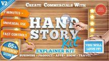 پروژه افترافکت تیزر تبلیغاتی معرفی محصول Hand Explainer Product Commercial Kit
