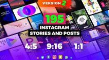 پروژه افترافکت پست و استوری اینستاگرام Instagram Stories and Posts Pack
