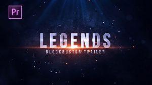 پروژه پریمیر نمایش تریلر فیلم Legends Blockbuster Title