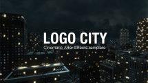 پروژه افترافکت نمایش لوگو در شهر Logo City