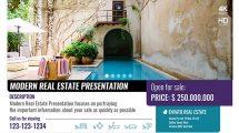 پروژه افترافکت تیزر تبلیغاتی مشاور املاک Modern Real Estate
