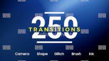 پروژه افترافکت مجموعه 250 ترانزیشن ویدیویی Motion Elements