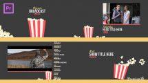 پروژه پریمیر اجزای ویدیویی برودکست Popcorn Broadcast Package