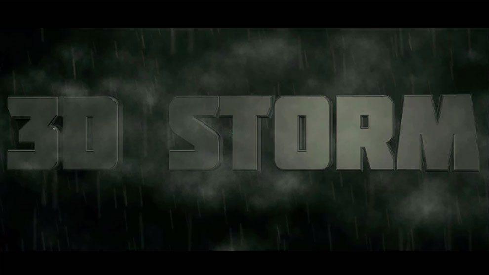 آموزش ساخت انیمیشن عنوان طوفانی در افترافکت با پلاگین Element 3D و Particular