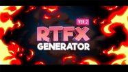 پروژه افترافکت مجموعه افکت کارتونی RTFX Generator Flash FX