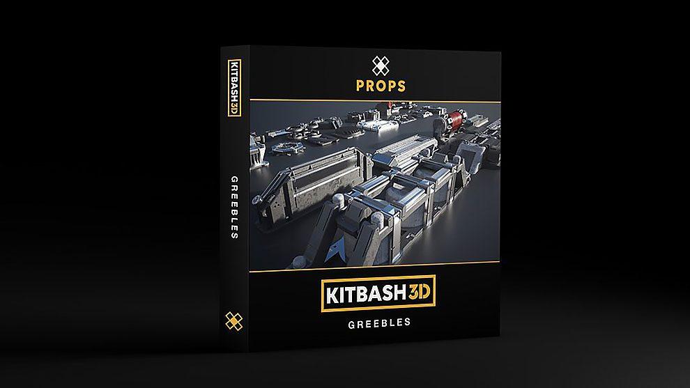 مجموعه مدل سه بعدی اجزای فضای علمی تخیلی Kitbash3D Props Greebles
