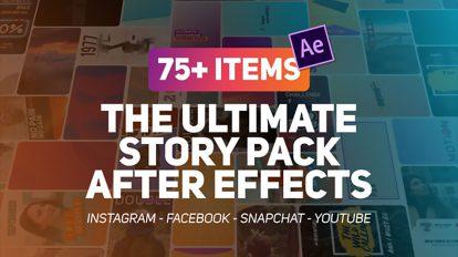 پروژه افترافکت استوری اینستاگرام The Ultimate Story Pack