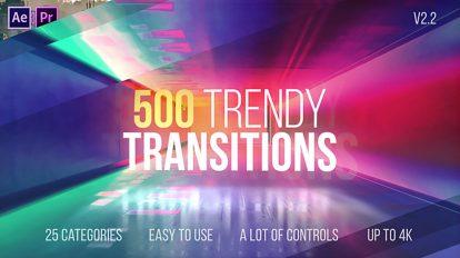 پروژه افترافکت مجموعه ترانزیشن Trendy Transitions