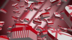 ویدیوی موشن گرافیک پایین ریختن هدایای روز ولنتاین